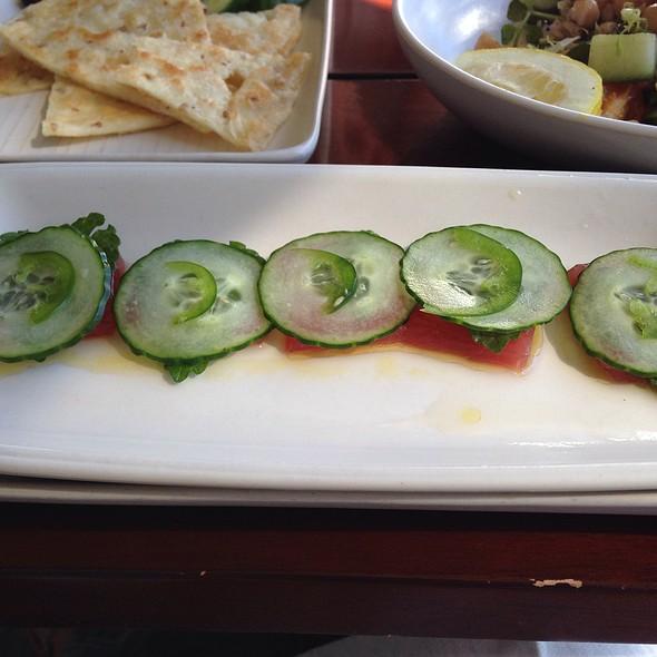 Tuna Crudo With Cucumber And Shizo Leaf - CRU Nantucket, Nantucket, MA