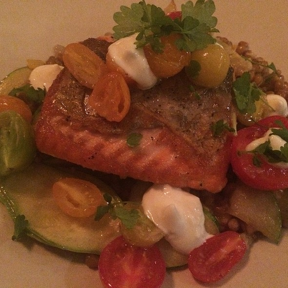 Salmon Wheatberry Cherry Tomatoes @ Hillside Supper Club