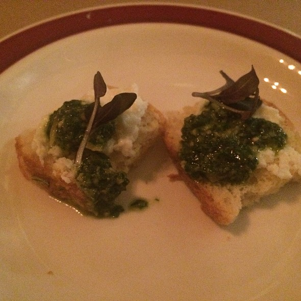 Pesto Basil Goat Cheese Amuse @ Hillside Supper Club