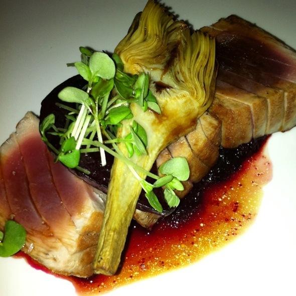 Seared Tuna, Beetroot, Artichoke