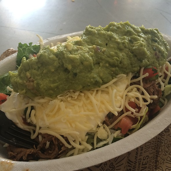 Barbacoa Salad With Guacamole @ Chipotle Mexican Grill