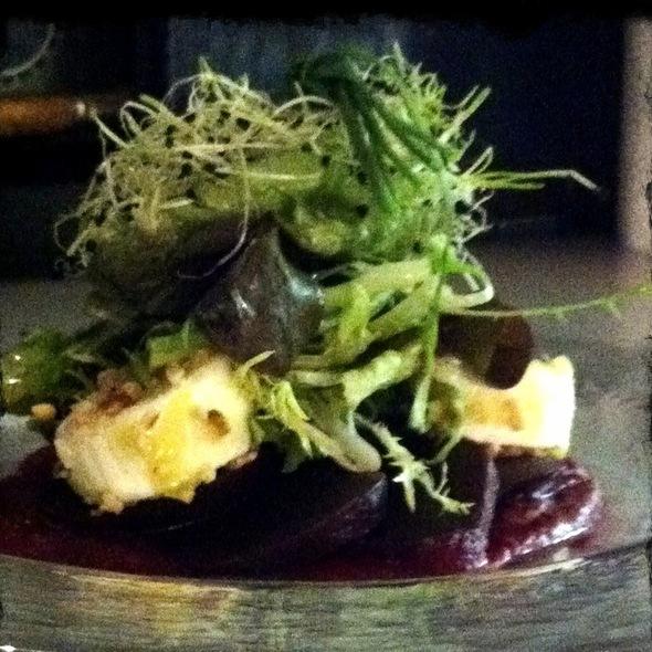 Ziegenfrischkäse Auf Rote Bete-Carpaccio @ Restaurant Weinstein