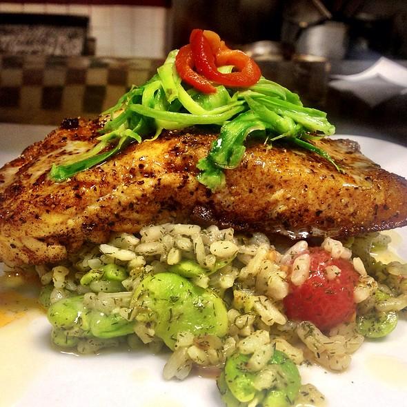 Dill Salmon With Asparagus Risotto - Baci Bistro and Bar, Pleasanton, CA