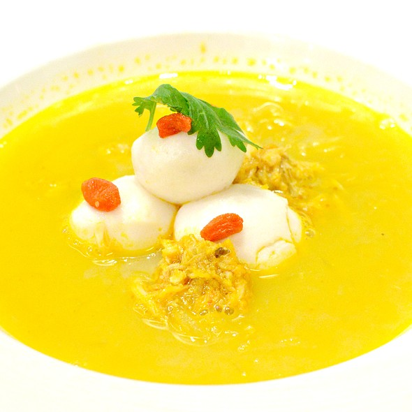 大閘蟹金湯蘿蔔絲,Hairy Crab with Shredded Turnip with Pumpkin Soup @ Dong Lai Shun 東來順