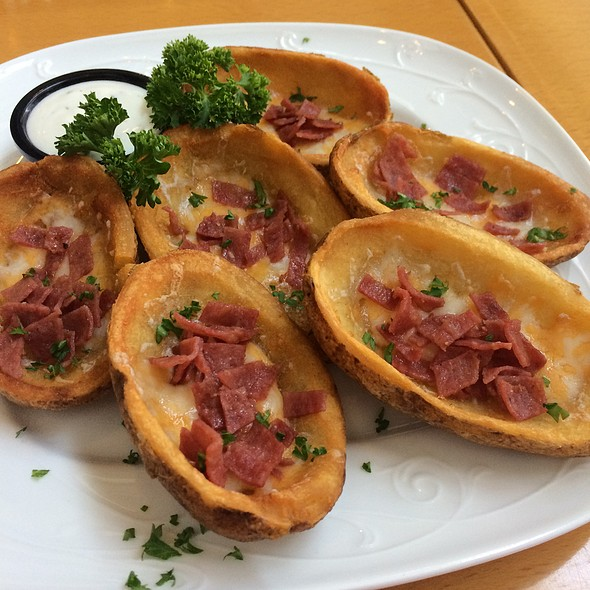 Loaded Potato Skins @ New York Coffee