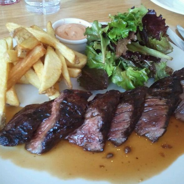 Hanger Steak With Fries And Chipotle Dip - Solo Bistro, Bath, ME