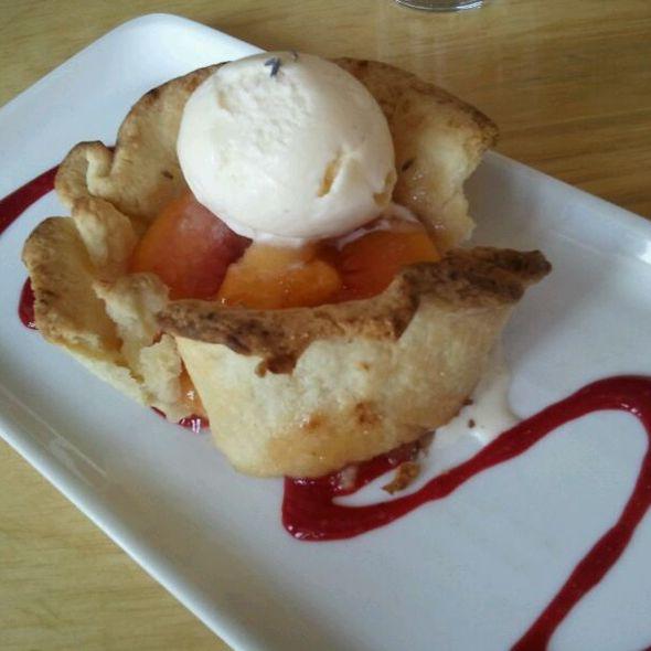 Peach And Lavender Tart - Solo Bistro, Bath, ME
