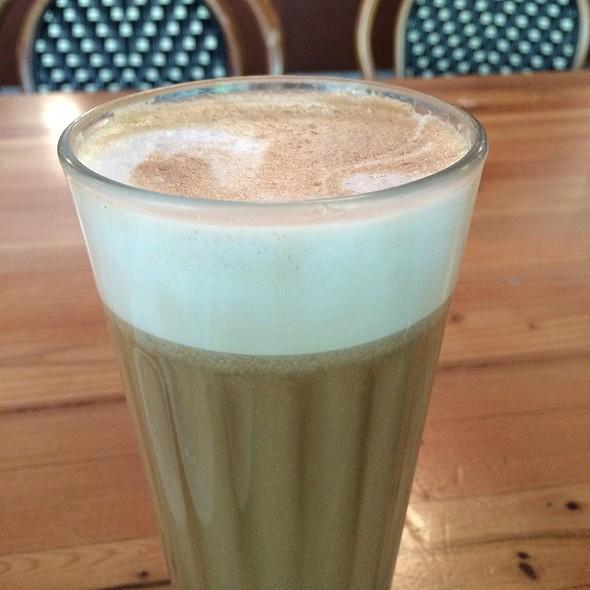 Cafe Latte With Almond Milk!!!! @ Balzac's Coffee