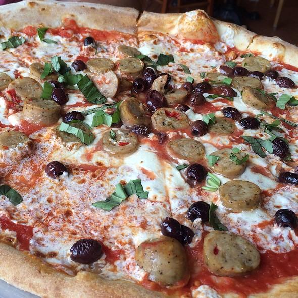 Olive And Chicken Sausage Pizza @ Via Napoli Ristorante e Pizzeria