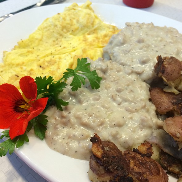Biscuits And Gravy With Scrambled Eggs And Potatoes @ Mitzi's Table