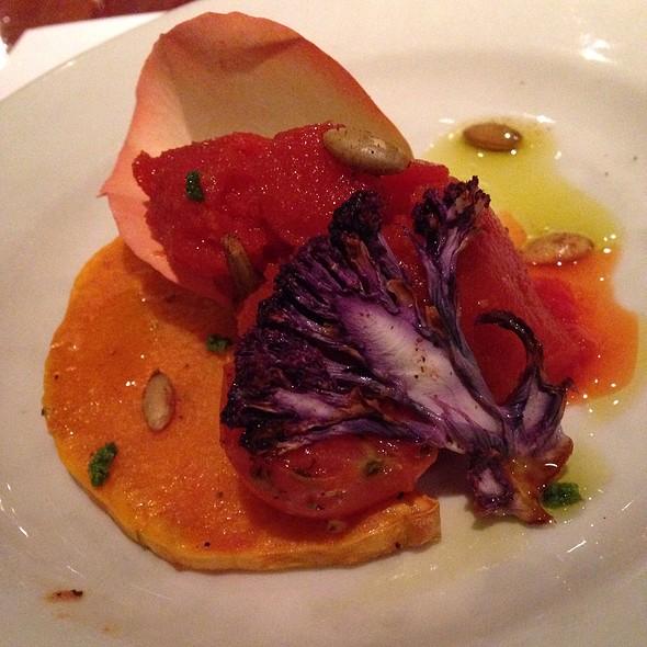 Savory Tomato Sorbet - Frank's Americana Revival, Houston, TX