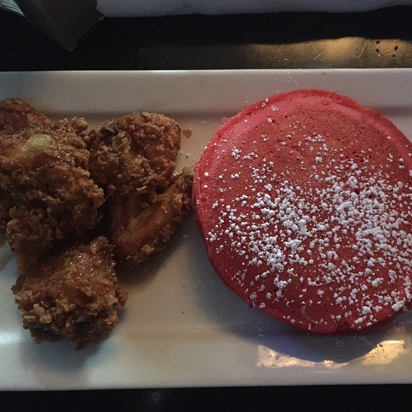 Red Velvet Pancakes With Southern Fried Chicken @ Chocolat