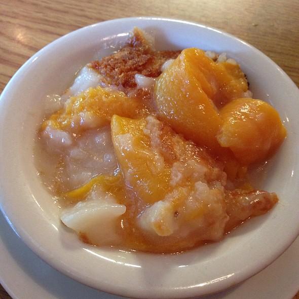 Homemade Peach Cobbler @ Ruby's Diner