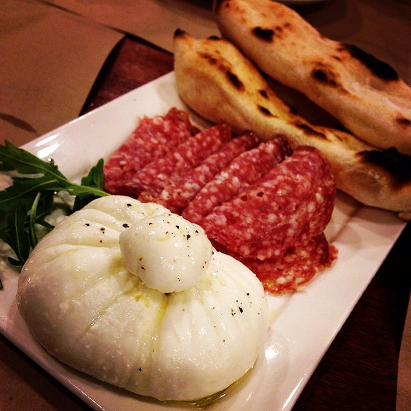 Burrata With Cold Cuts @ Gino's Brick Oven Pizza, Bautista St. Salcedo Village Makati