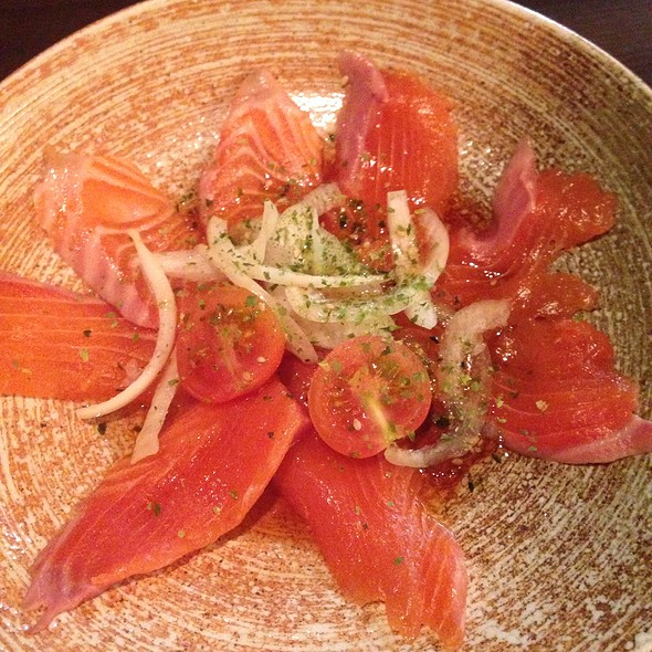 salmon carpaccio @ Pasta Goma