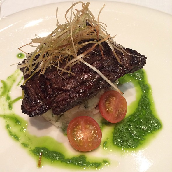 Grilled Skirt Steak With Truffle Potatoes - The Trapiche Room, Miami, FL