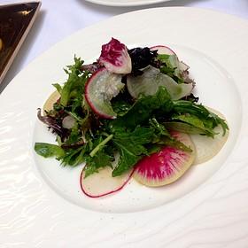Mixed Field Green Salad, Shaved Fennel, Red Radish, Lemon Herb Vinaigrette - Nob Hill Club at the Mark Hopkins, San Francisco, CA