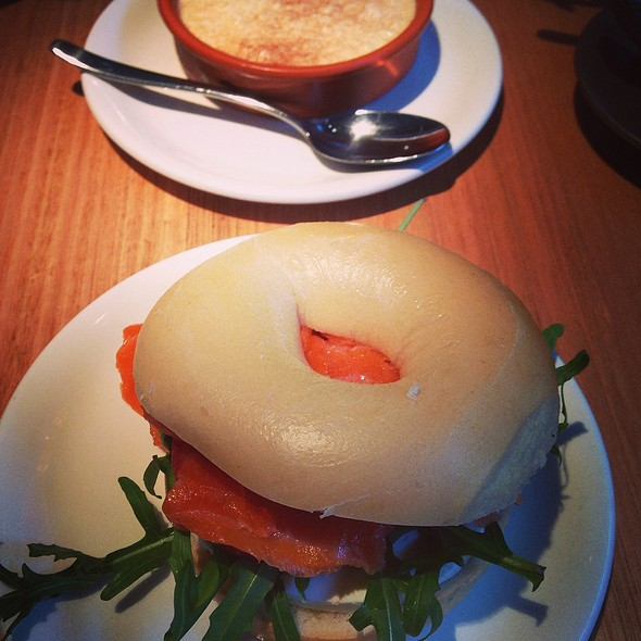 Ouzo Cured Trout Bagel @ Alpha
