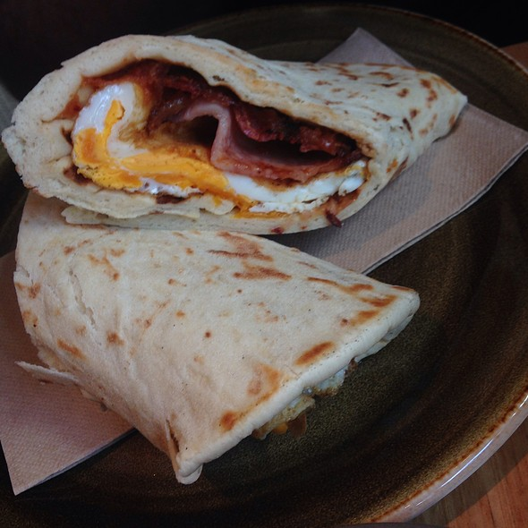 Bacon and Egg Pita Sandwich  @ Alpha