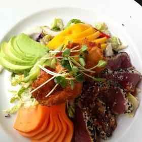 Sesame Ahi Tuna And Coconut Shrimp Salad