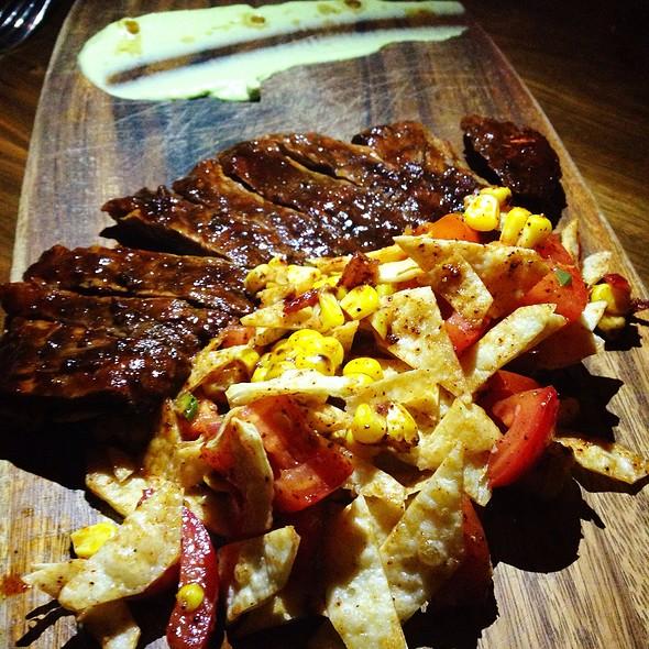Chili Rubbed Skirt Steak, Tortilla Fattoush - Beso, Hollywood, CA