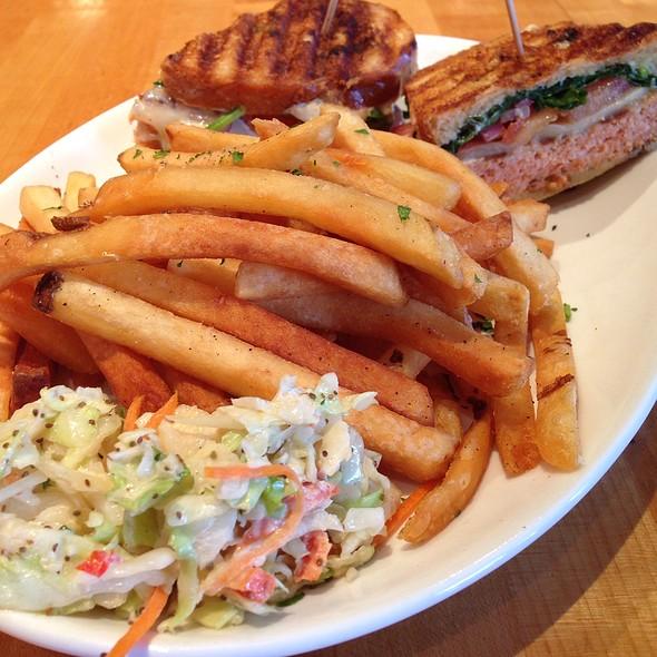 Wild Salmon Burger - The Daily Catch Seaport, Boston, MA