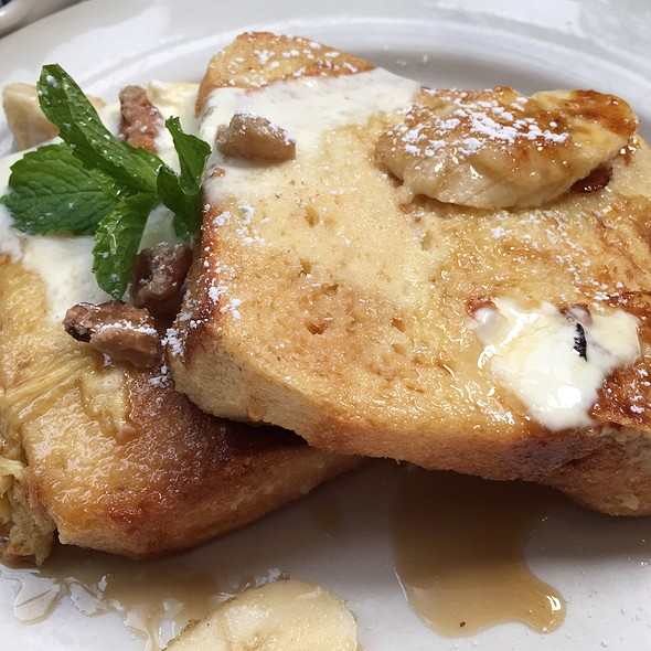 Roasted Banana Stuffed French Toast @ Juliette