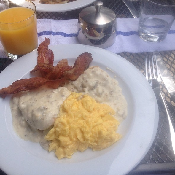 Sausage, Biscuits, Gravy & Eggs With A Side Of Bacon @ Stone Park Café