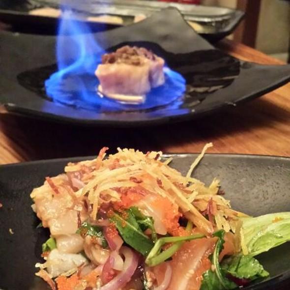 Salmon On Fire And Ceviche @ Kawa Sushi
