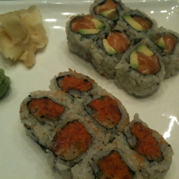 Maki Lunch Special: Spicy Tuna Roll & Salmon Avocado Roll  @ Toyama Sushi Inc
