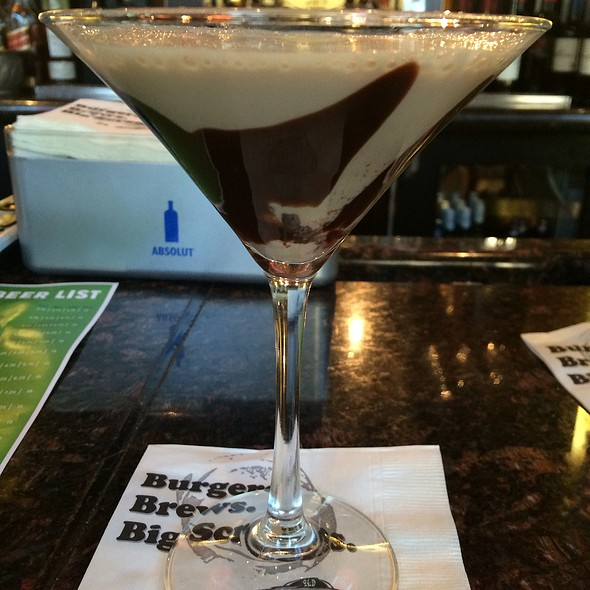 Chocolate Cherry Martini - Old Burdicks Bar and Grill, Kalamazoo, MI