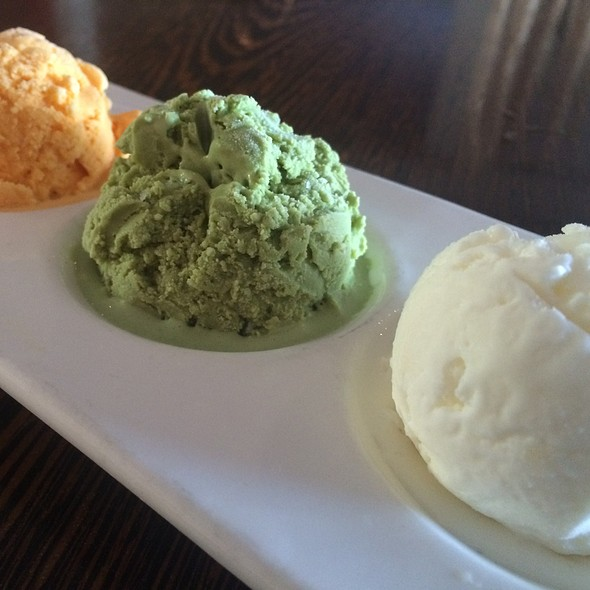 Sorbet Trio Mango Green Tea Coconut @ Osha Thai
