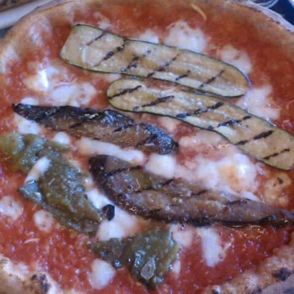 Pizza With Eggplant And Zucchini @ Pizzeria Locale