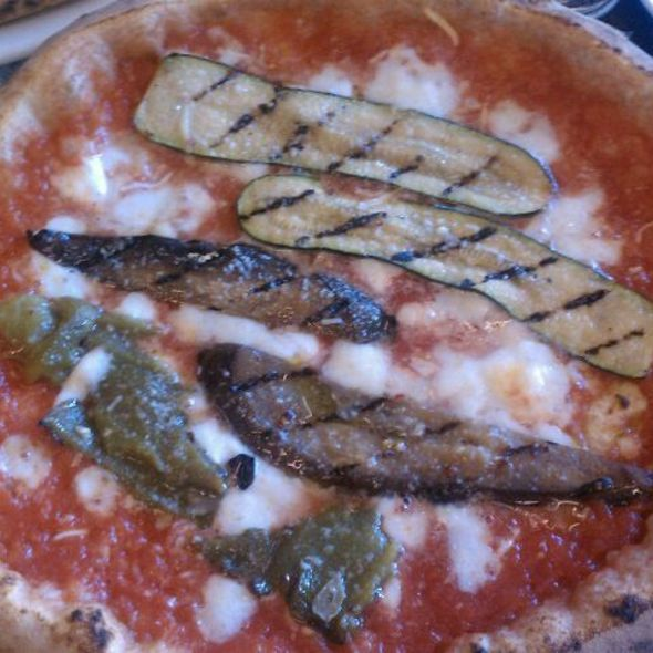 Pizza With Eggplant And Zucchini @ Pizzeria Locale