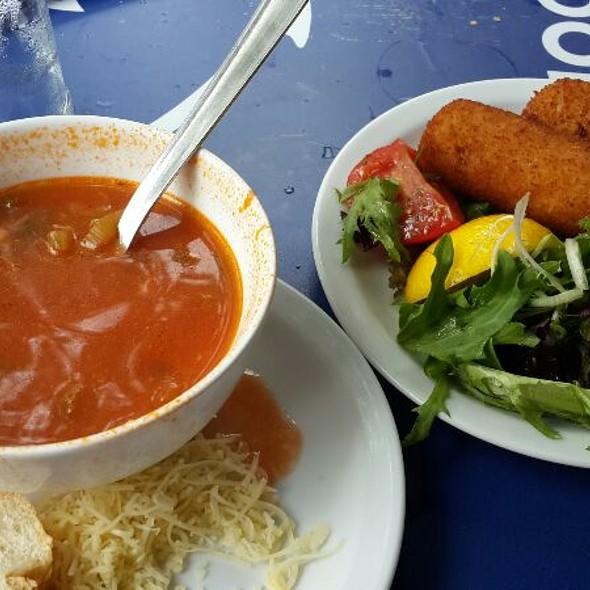 Shrimp Croquettes And Seafood Soup @ La Mer Du Nord / De Noordzee
