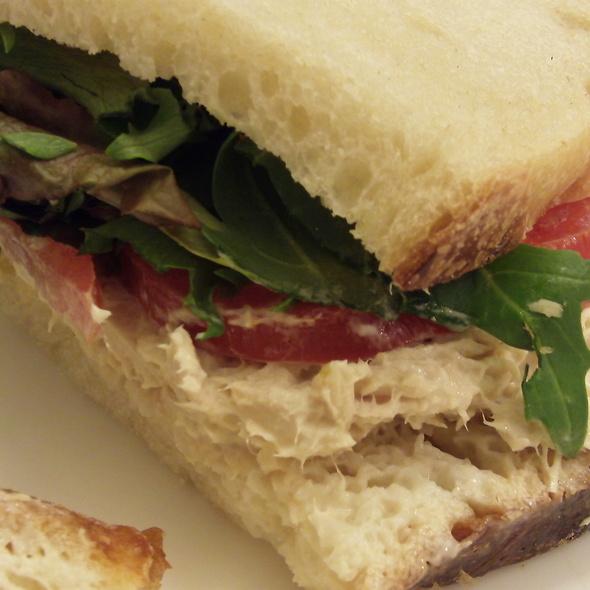 Tuna Salad Sandwich on Sourdough @ Euro Pane Bakery