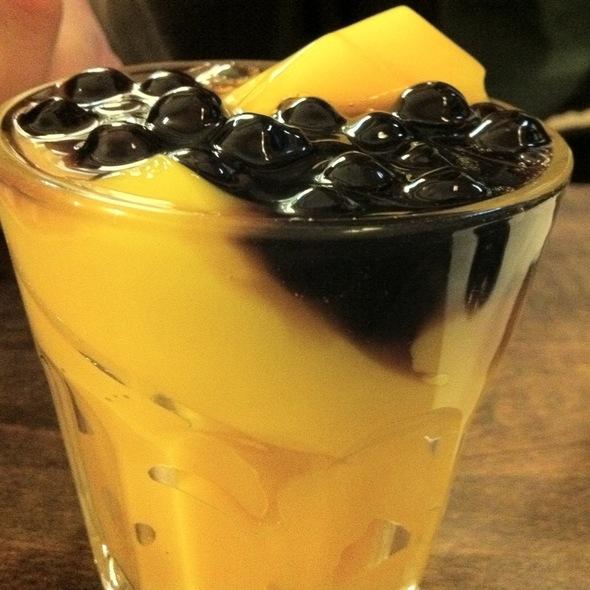 "Honey Boba Pudding ""Shot"" @ Half & Half Tea House"