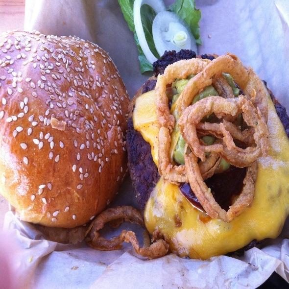 Chipotle, Guacamole & Cheddar Burger