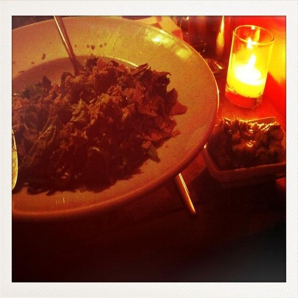 Add-On Salad With Macadamia Parmesan, Cilantro, Greenmarket Radish, Basil; Side Of Guacamole @ Pure Food & Wine