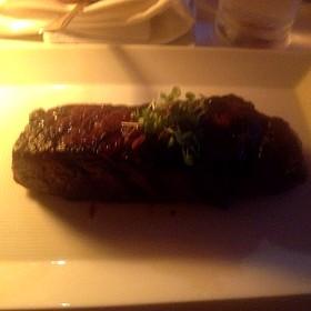 Niman Ranch Strip Steak With Red Wine Mushroom Marmalade - River Cafe
