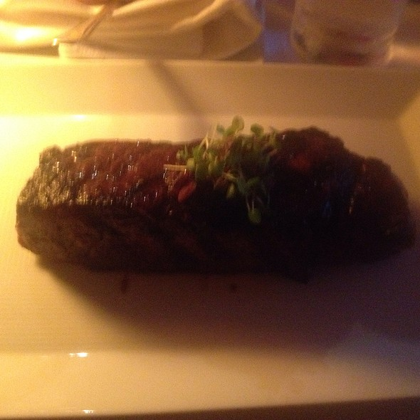 Niman Ranch Strip Steak With Red Wine Mushroom Marmalade @ The River Café