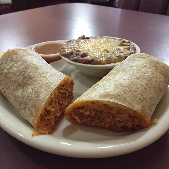 Breakfast Burrito With Chorizo @ Andy's Coffee Shop