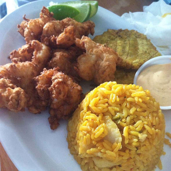 Fried shrimp @ La Cameronera