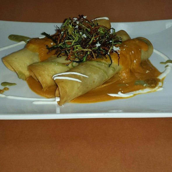 Enchiladas W/Pumpkin-Habanero Sauce @ Los Sarapes At Horsham Mexican