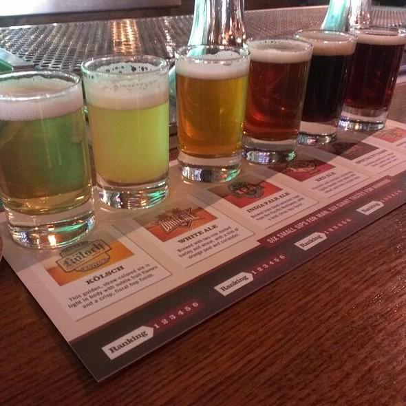 Beer Flight - Rock Bottom Brewery Restaurant - Denver, Denver, CO