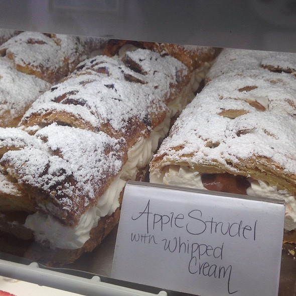 Apple Strudel With Whipped Cream