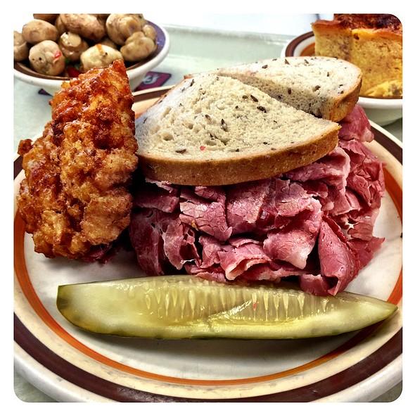 Corned Beef Sandwich & Patato Pancake @ Manny's Coffee Shop & Deli