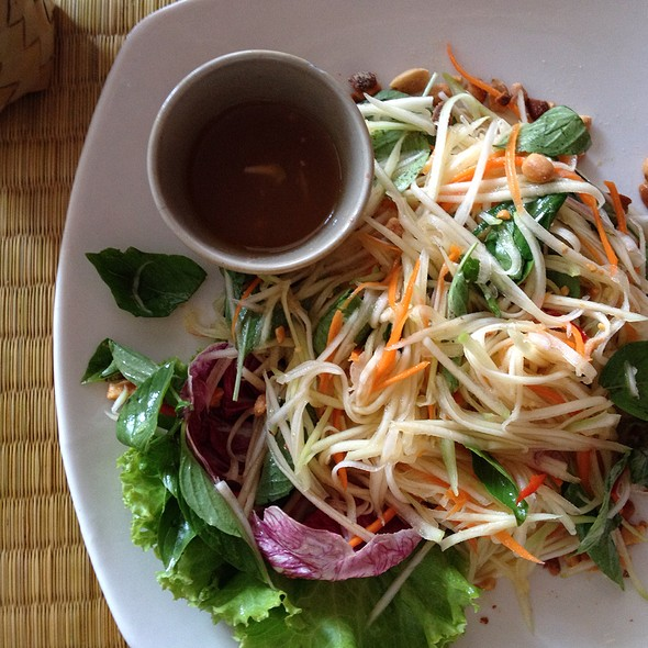 Green Mango Salad @ New Leaf Book Cafe