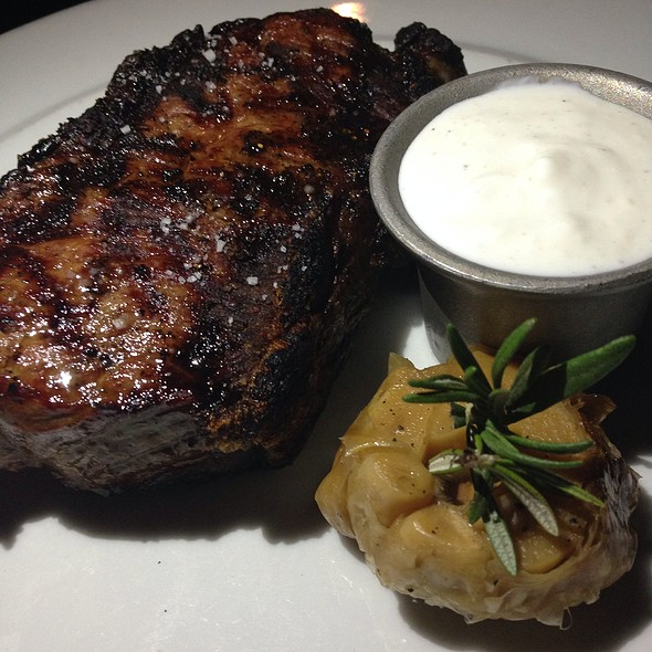 40 Day Dry Aged New York Strip @ BOA Steakhouse