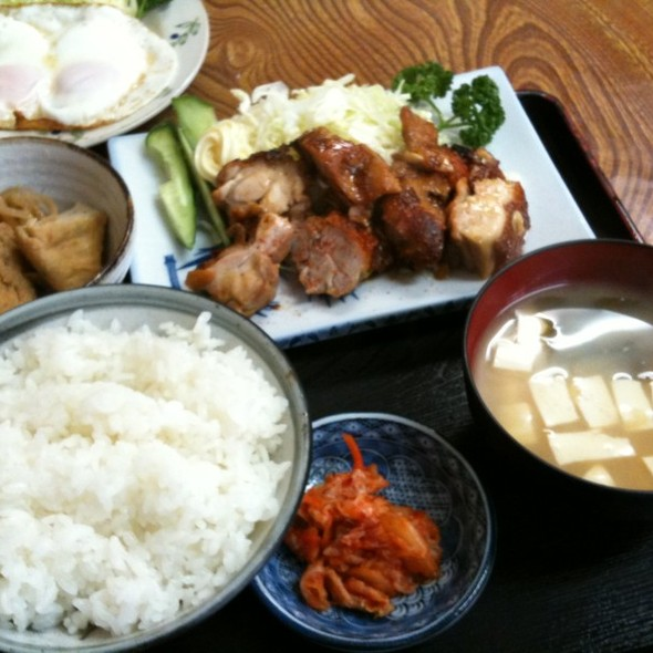 若鶏の照り焼き定食 @ 北食堂